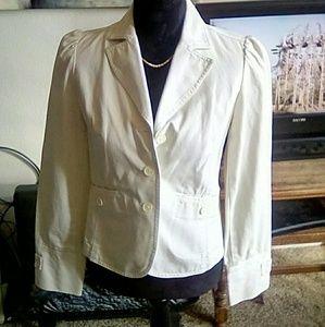 Ann Taylor Loft white blazer jacket size 2